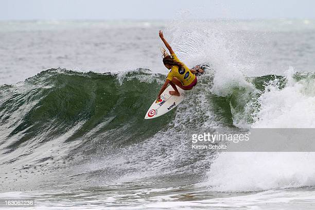 Alana Blanchard of USA surfs into the quarterfinals during the Roxy Pro Gold Coast 2013 on March 4 2013 in Gold Coast Australia