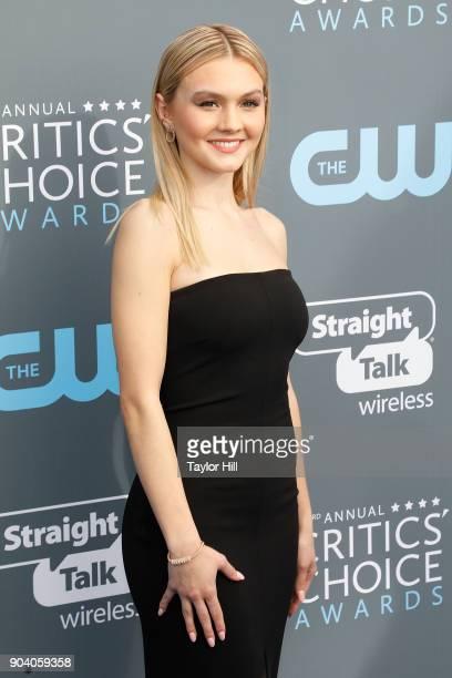 Alana Boden attends the 23rd Annual Critics' Choice Awards at Barker Hangar on January 11 2018 in Santa Monica California