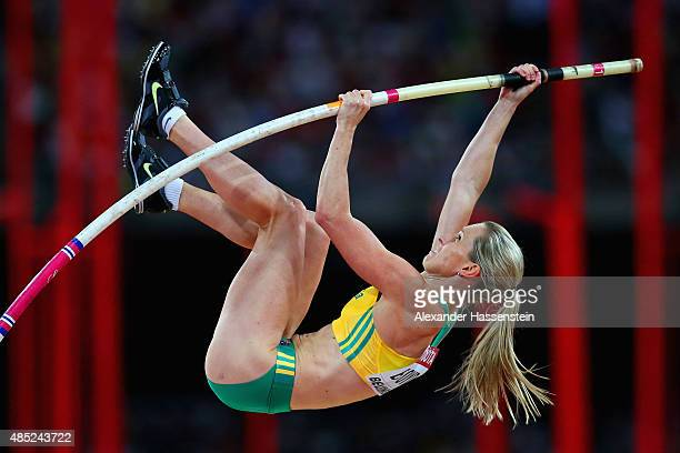 Alana Boyd of Australia competes in the Women's Pole Vault final during day five of the 15th IAAF World Athletics Championships Beijing 2015 at...