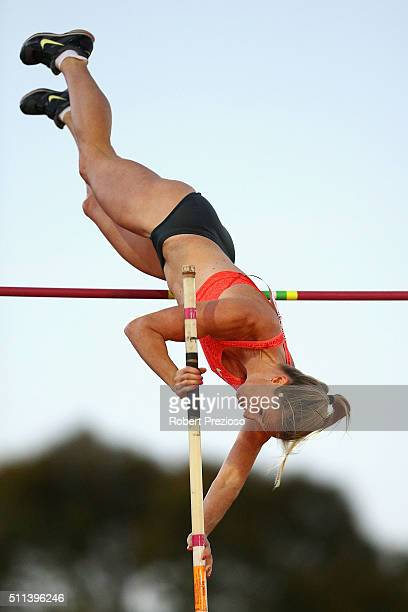 Alana Boyd of QAS competes in Women's Pole Vault during the Adelaide Track Classic on February 20, 2016 in Adelaide, Australia.