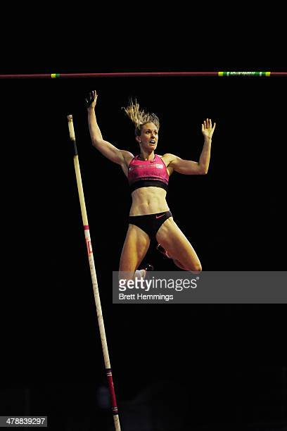 Alana Boyd of Queensland competes in the Womens Pole Vault event during the Sydney Track Classic at Sydney Olympic Park Sports Centre on March 15,...