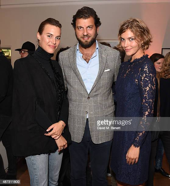 Alana Bunte Casimir SaynWittgenstein and Arizona Muse attend the launch of the Academicians' Room private members club in The Keeper's House at The...