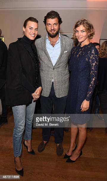 Alana Bunte, Casimir Sayn-Wittgenstein and Arizona Muse attend the launch of the Academicians' Room private members club in The Keeper's House at The...