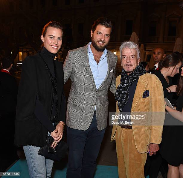 Alana Bunte Casimir SaynWittgenstein and Nicky Haslam attend the launch of the Academicians' Room private members club in The Keeper's House at The...