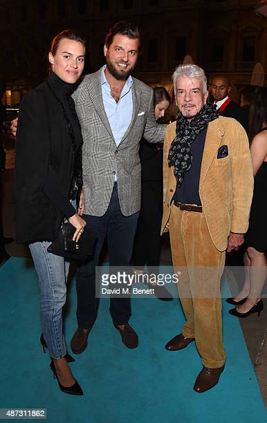 Alana Bunte, Casimir Sayn-Wittgenstein and Nicky Haslam attend the launch of the Academicians' Room private members club in The Keeper's House at The...