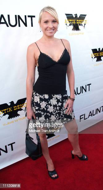 Alana Curry during Flaunt Magazine Presents The Premiere Party of Antik Denim's Signature Store August 18 2005 at Antik Signature Store on Melrose in...