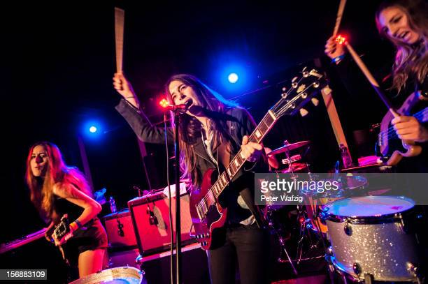 Alana Danielle and Este Haim of Haim performs on stage at the Blue Shell on November 06 2012 in Cologne Germany