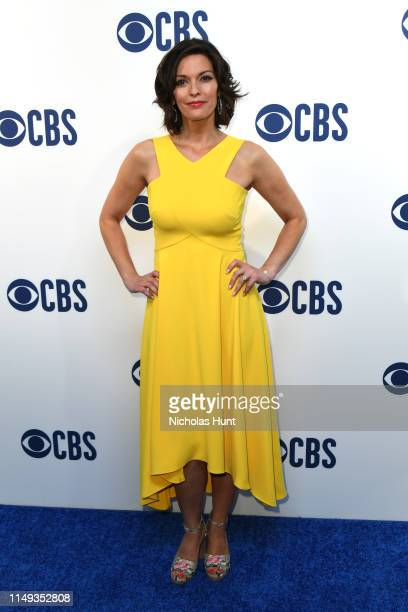 Alana De La Garza attends the 2019 CBS Upfront at The Plaza on May 15 2019 in New York City