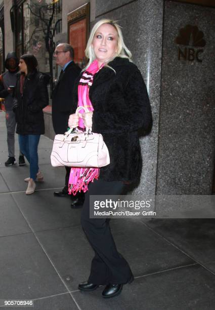 Alana Evans is seen on January 16 2018 in New York City