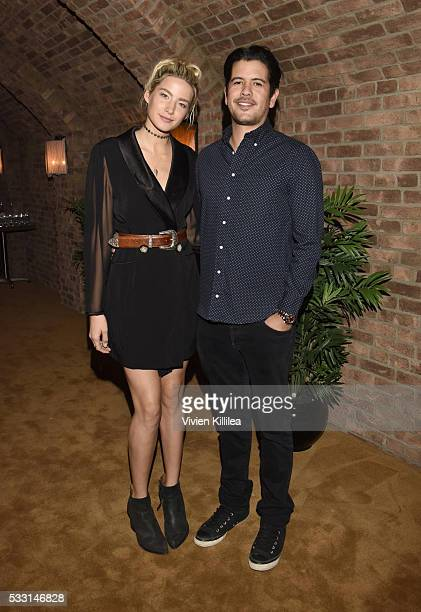 Alana Greszata and Nick Montealegre attend Brody Jenner And Kaitlynn Carter's Engagement Dinner at Roku on May 20 2016 in West Hollywood California