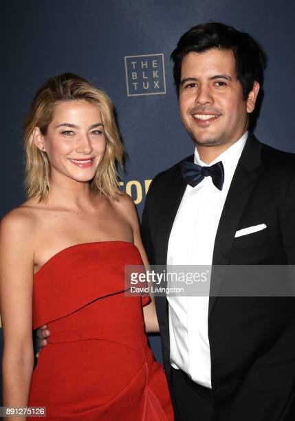 Alana Greszata and Nick Montealegre attend FORAY Collective and The Black Tux Host Holiday Gala on December 12 2017 in Los Angeles California
