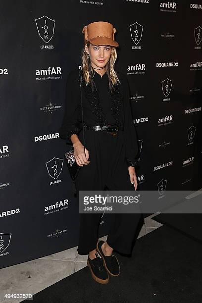Alana Greszata attends amfAR's Inspiration Gala Los Angeles after party at 1OAK on October 29 2015 in West Hollywood California