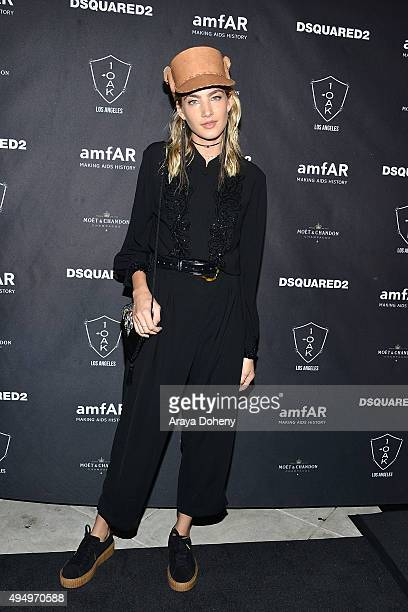 Alana Greszata attends the attends DSQUARED2 and amfAR's official after party at 1OAK on October 29 2015 in West Hollywood California