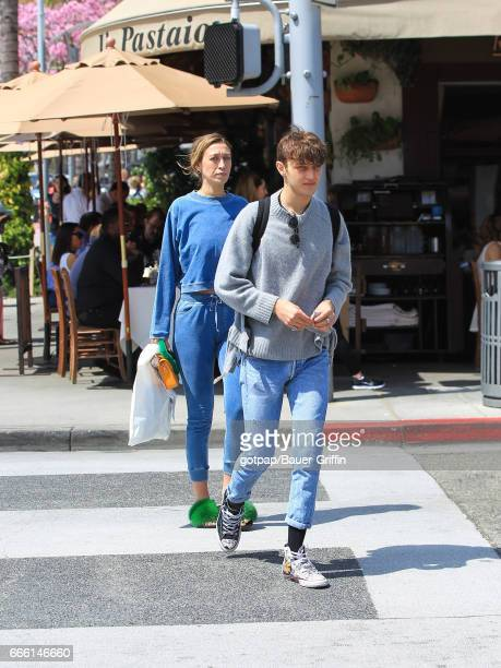 Alana Hadid and Anwar Hadid are seen on April 07 2017 in Los Angeles California