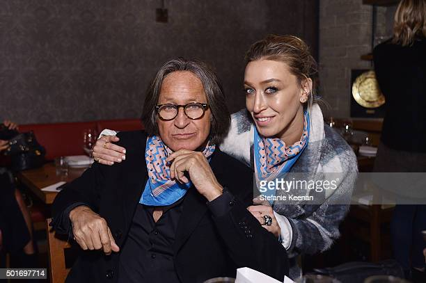 Alana Hadid and Mohamed Hadid attend Alana Hadid x Lou Grey Celebrate Collaboration With Friends And Family In Los Angeles at Republique on December...
