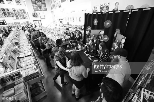 Alana Haim Danielle Haim and Este Haim of HAIM celebrate Something To Tell You at Amoeba Music in Hollywood at Amoeba Music on July 13 2017 in...