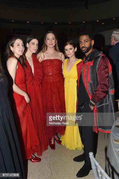Alana Haim Danielle Haim Este Haim Kate Mara and Big Sean attend the 2017 Guggenheim International Gala made possible by Dior on November 16 2017 in...