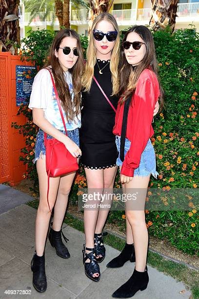 Alana Haim Este Haim and Danielle Haim of Haim attend Refinery29 x AOK Present Paradiso Day 1 on April 11 2015 in Palm Springs California