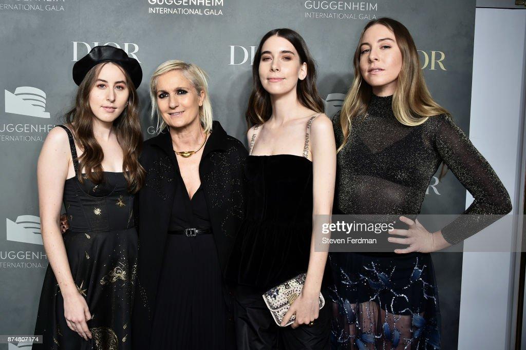Alana Haim, Maria Grazia Chirui, Danielle Haim and Este Haim attend the 2017 Guggenheim International Gala Pre-Party made possible by Dior on November 15, 2017 in New York City.