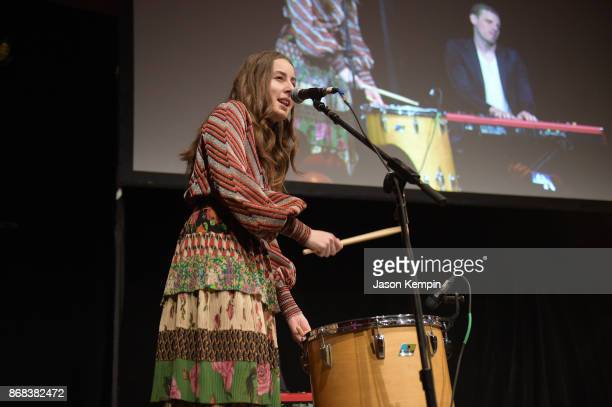 Alana Haim of the band Haim performs as Equality Now celebrates 25th Anniversary at 'Make Equality Reality' Gala at Gotham Hall on October 30 2017 in...