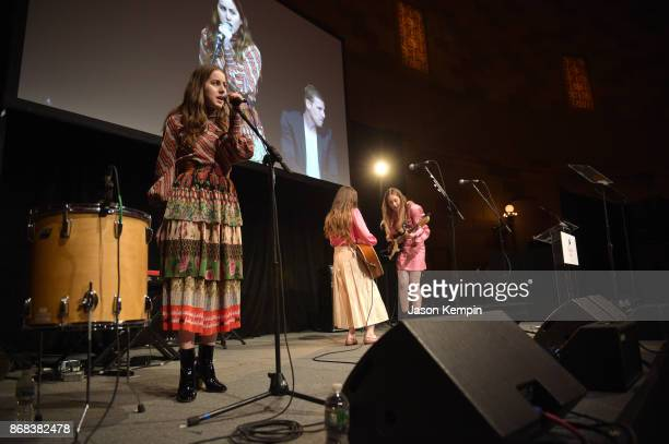 Alana Haim of the band Haim performs as Equality Now celebrates 25th Anniversary at Make Equality Reality Gala at Gotham Hall on October 30 2017 in...