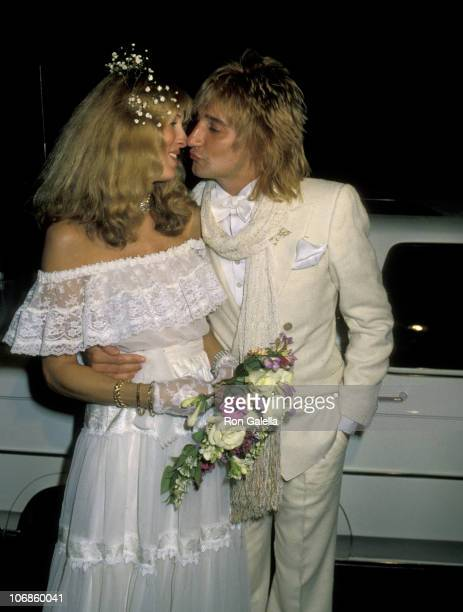 Alana Hamilton and Rod Stewart during Rod Stewart and Alana Hamilton Wedding April 6 1979 at L'Ermitage in Los Angeles California United States
