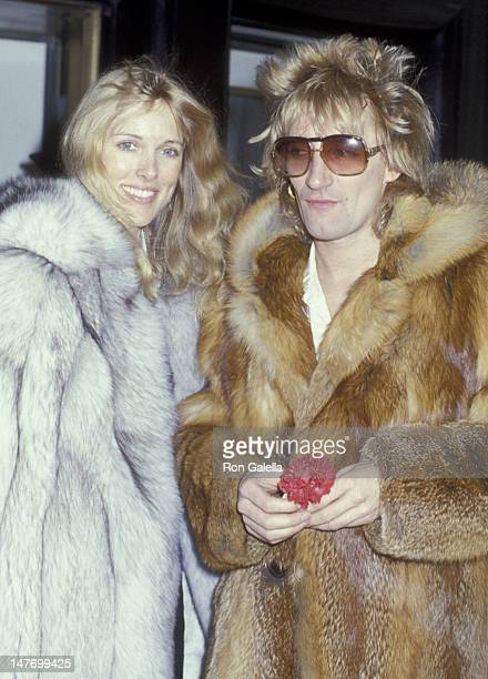 Alana Hamilton and Rod Stewart sighted on January 10 1979 at the Carlyle Hotel in New York City