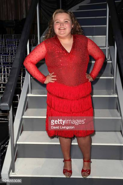 Alana Honey Boo Boo Thompson from Dancing With the Stars Juniors poses at Dancing with the Stars Season 27 at CBS Televison City on September 25 2018...