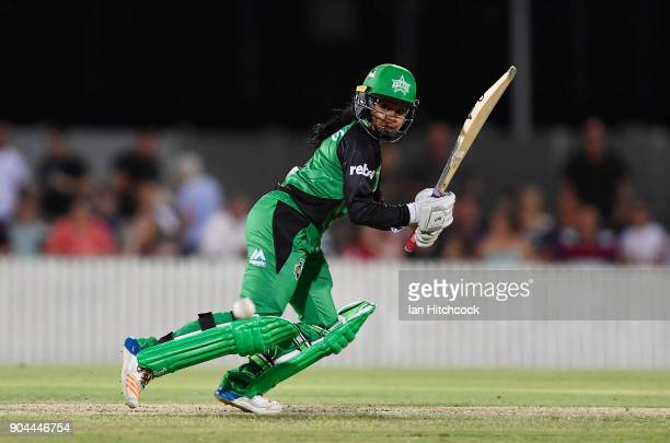 Alana King of the Stars bats during the Women's Big Bash League match between the Brisbane Heat and the Melbourne Stars on January 13 2018 in Mackay...