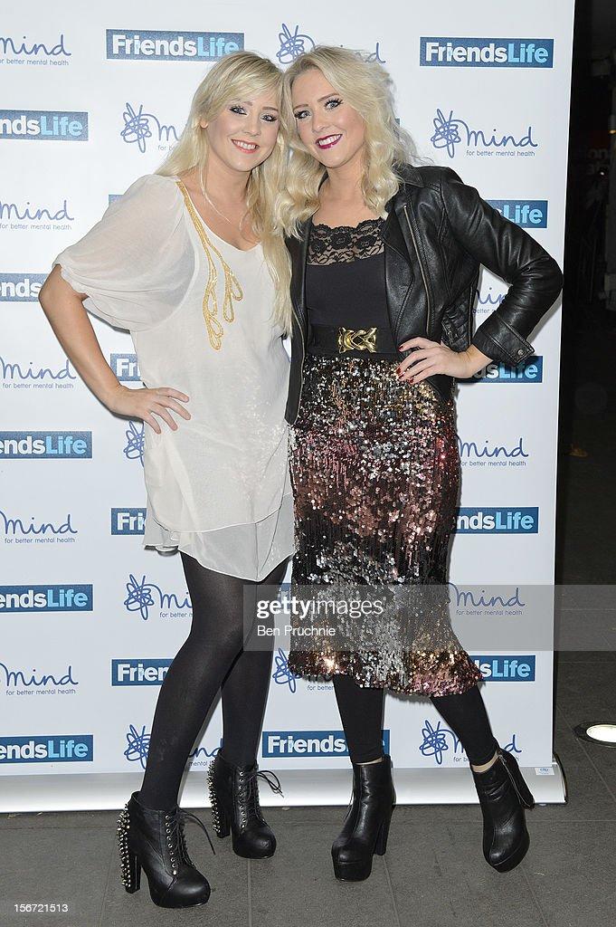 Alana Macfarlane and Lisa Macfarlane, The Mac Twins attend the Mind Mental Health Media Awards at BFI Southbank on November 19, 2012 in London, England.