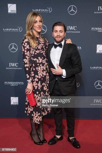 Alana Netzer and Baschi aka Sebastian Buergin attend the 11th Laureus Charity Night at Hangar Duebendorf on November 18 2017 near Zurich Switzerland