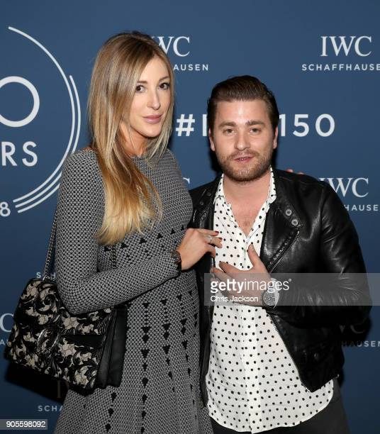 Alana Netzer and Baschi visit the IWC booth during the Maison's launch of its Jubilee Collection at the Salon International de la Haute Horlogerie on...