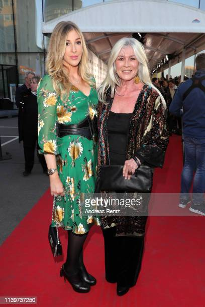Alana Netzer and her mother Elvira Lang Netzer attend the Hall Of Fame gala at Deutsches Fussballmuseum on April 01 2019 in Dortmund Germany