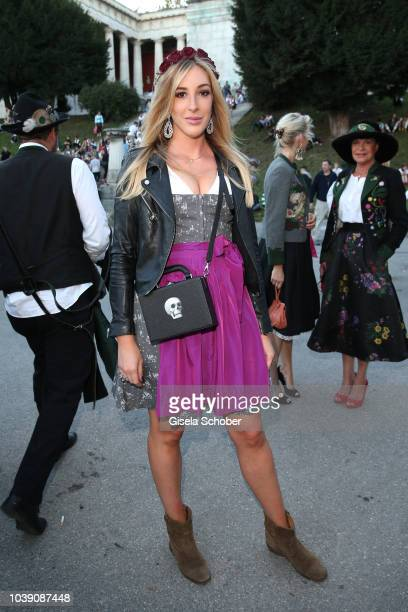Alana Netzer daughter of Guenter and Elvira Netzer during the Oktoberfest 2018 at Theresienwiese on September 23 2018 in Munich Germany