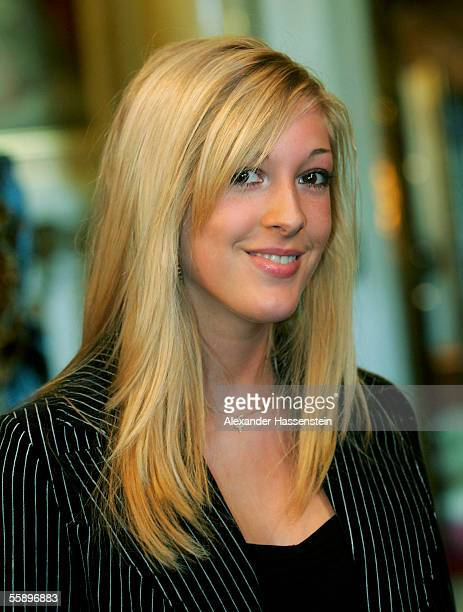 Alana Netzer daughter of Guenther Netzer poses during the reception of the Senate of Hamburg at City Hall October 11 2005 in Hamburg Germany