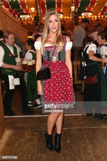 Alana Netzer during the opening of the Oktoberfest 2017 at Schuetzenfestzelt at Theresienwiese on September 16 2017 in Munich Germany