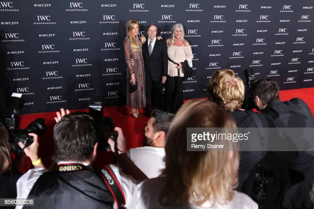 Alana Netzer Guenter Netzer and his wife Elvira Netzer attend the IWC 'For the Love of Cinema' Gala Dinner at AURA Zurich on 30 September 2017 in...