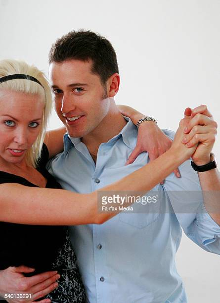 Alana Patience and Tom Waterhouse contestants on the television show Dancing With The Stars rehearse in a studio in Chippendale Sydney 21 September...