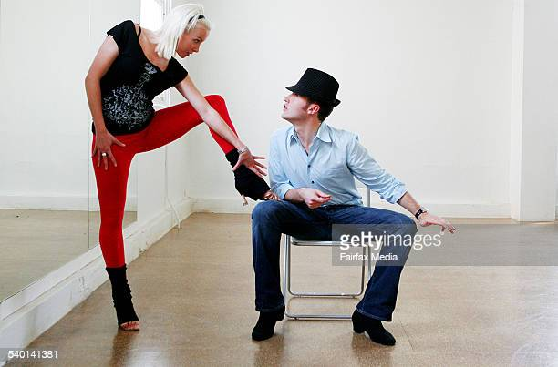 Alana Patience and Tom Waterhouse, contestants on the television show Dancing With The Stars, rehearse in a studio in Chippendale, Sydney, 21...