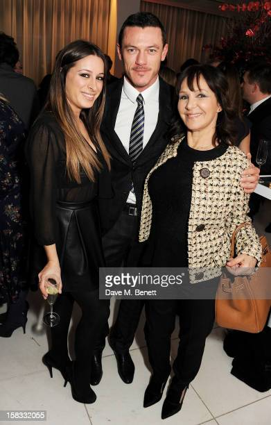 Alana Phillips Luke Evans and Arlene Phillips attend the English National Ballet Christmas Party at St Martins Lane Hotel on December 13 2012 in...