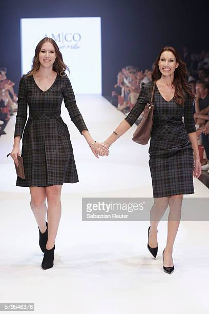 Alana Siegel and Dagmar Siegel walk the runway for AMCO by Annett Moeller as part of the Platform Fashion Selected show during Platform Fashion July...