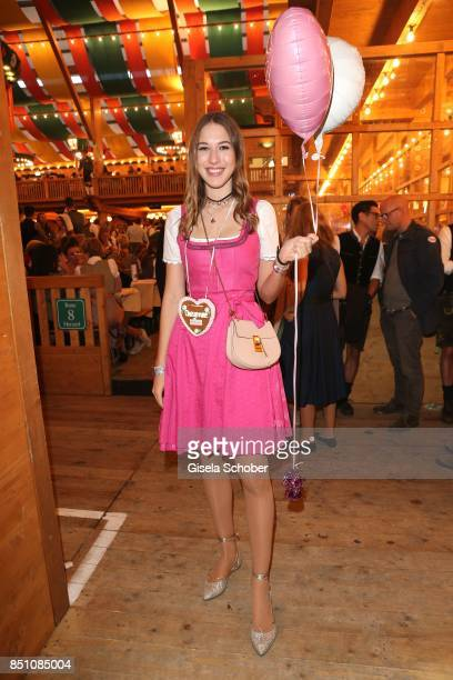 Alana Siegel at the 'Madlwiesn' event during the Oktoberfest at Theresienwiese on September 21 2017 in Munich Germany