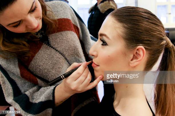 Alana Siegel backstage during the presentation of the collection VIGOUR vogue by designer Brian Rennie at arena Berlin on February 19 2019 in Berlin...