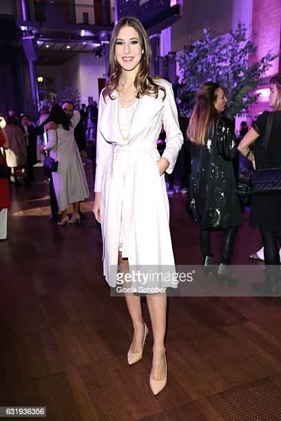 Alana Siegel daughter of Ralf Siegel and Dagmar Koegel during the Marc Cain fashion show fall/winter 2017 'Ballet magnifique' at 'Telekom...