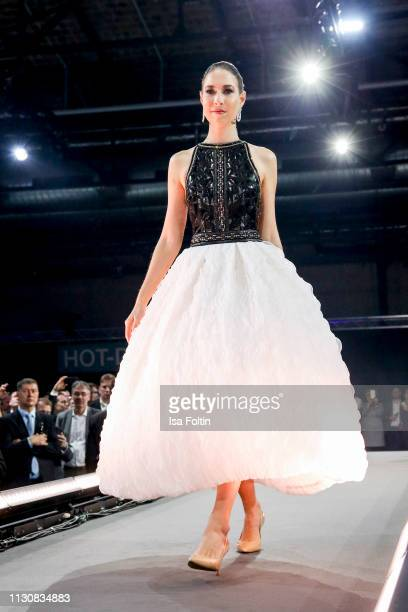 Alana Siegel walks the runway during the presentation of the collection VIGOUR vogue by designer Brian Rennie at arena Berlin on February 19 2019 in...
