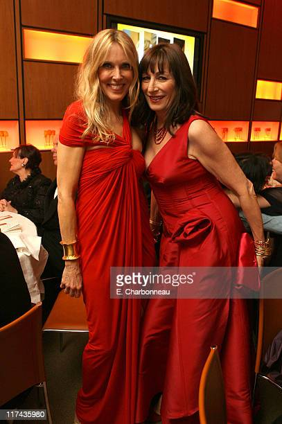 Alana Stewart and Anjelica Huston during 2007 Vanity Fair Oscar Party Hosted by Graydon Carter Inside at Mortons in West Hollywood California United...