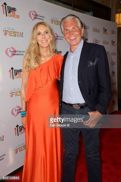 Alana Stewart and George Hamilton attend the Farrah Fawcett Foundation's 'TexMex Fiesta' Honoring Stand Up To Cancer at Wallis Annenberg Center for...