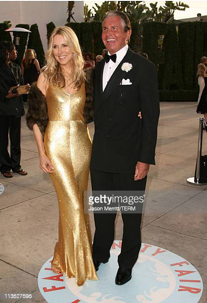 Alana Stewart and George Hamilton during 2006 Vanity Fair Oscar Party at Morton's in West Hollywood California United States