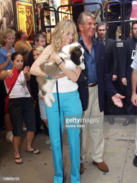 Alana Stewart and George Hamilton during Stars at Broadway Barks 4 Pet Adoption Event at Schubert Alley in New York City New York United States