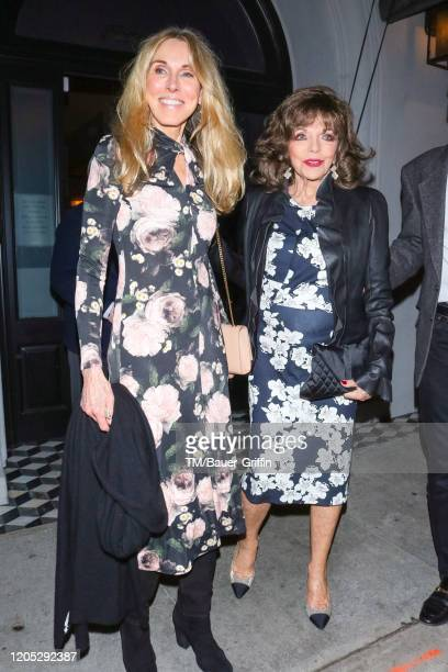 Alana Stewart and Joan Collins are seen on March 04 2020 in Los Angeles California